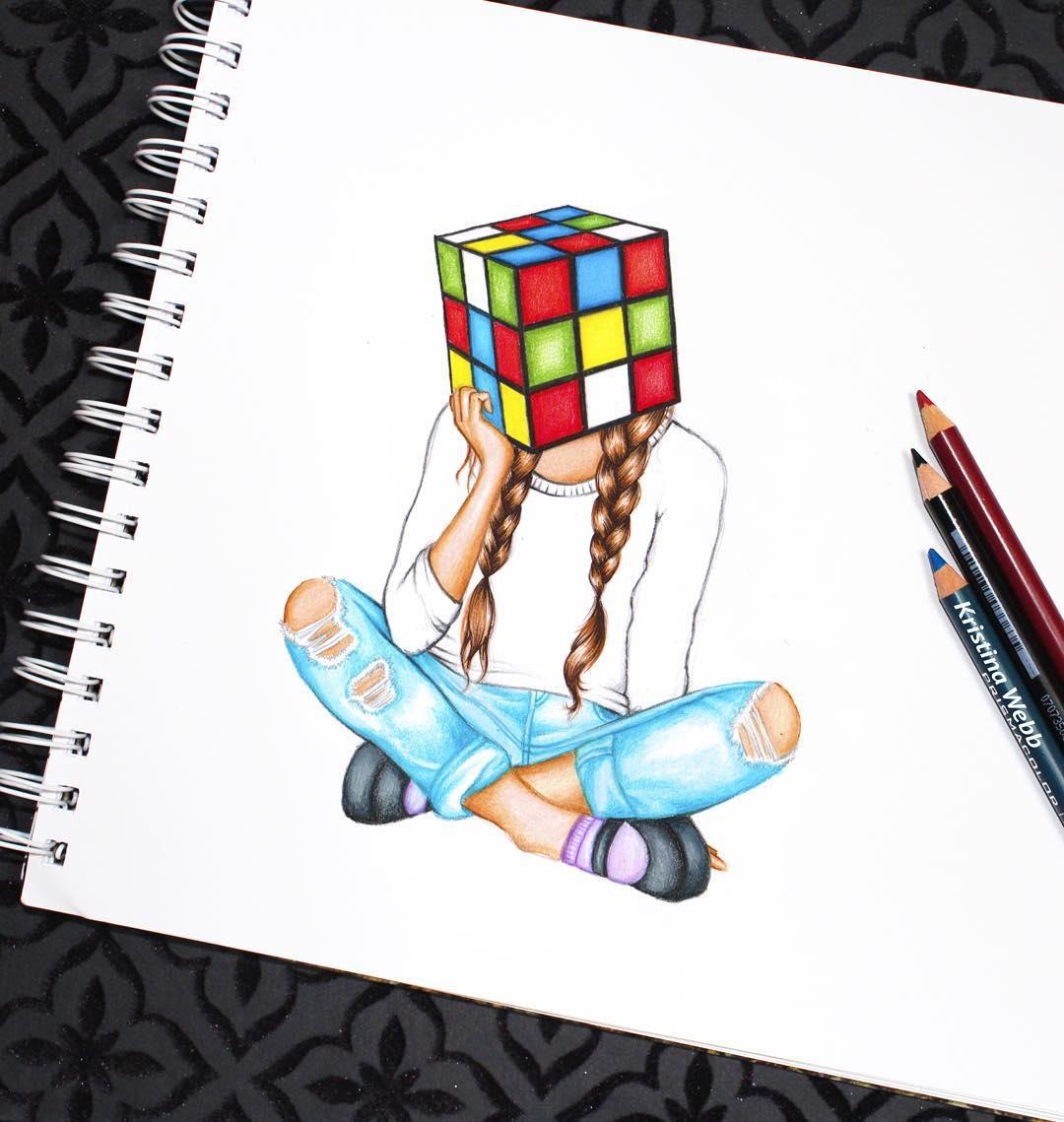 11-Puzzled-Kristina-Webb-colour-me-creative-Drawings-Exploring-a-Range-Different-Techniques-www-designstack-co