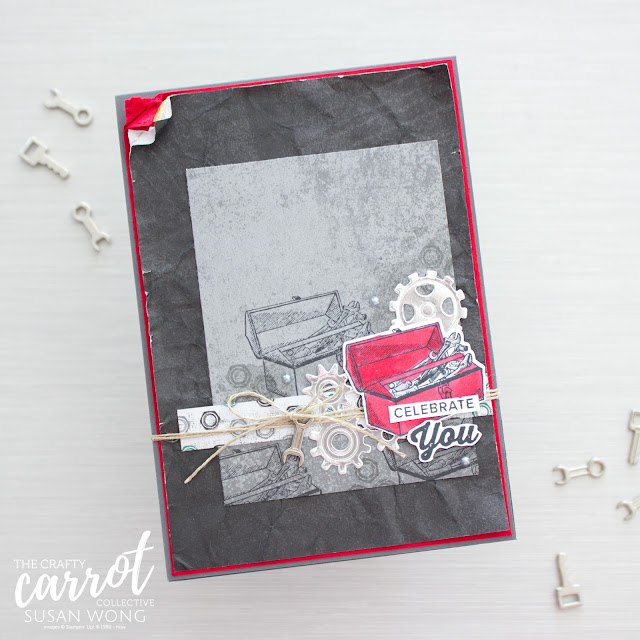 Geared Up Garage by Stampin' Up! - Masculine Card by Susan Wong
