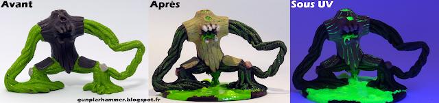 Bête de Nurgle Warhammer Nurgle Beast fluorescent Peinture Gormiti