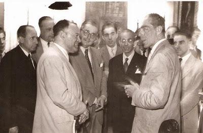 1951 -  Dr. Mario Damas y el  Presidente de la Diputación, el marqués de Castell-Florite
