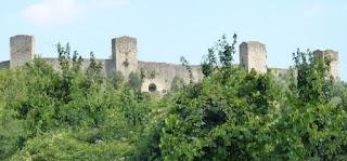 El castillo de Monteriggioni.