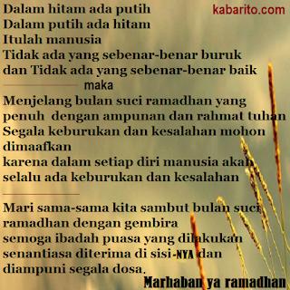 Gambar Puisi Bulan Puasa Ramadhan