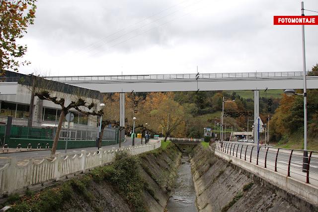 Fotomontaje del puente ferroviario que atravesará Gorostiza