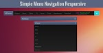 Simple Menu Navigation Bar Responsive