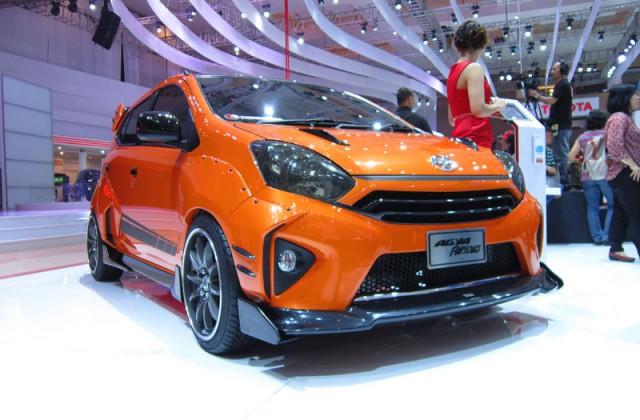 Gambar modifikasi mobil Toyota agya terbaru