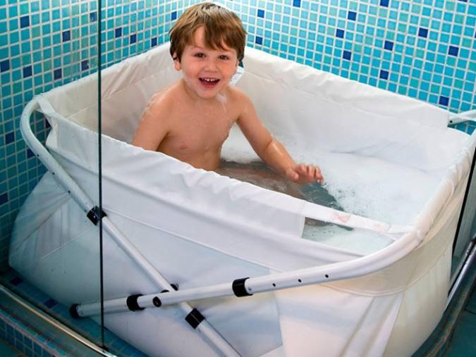 bañeras de bebé ligeras, plegables y extensibles para ducha