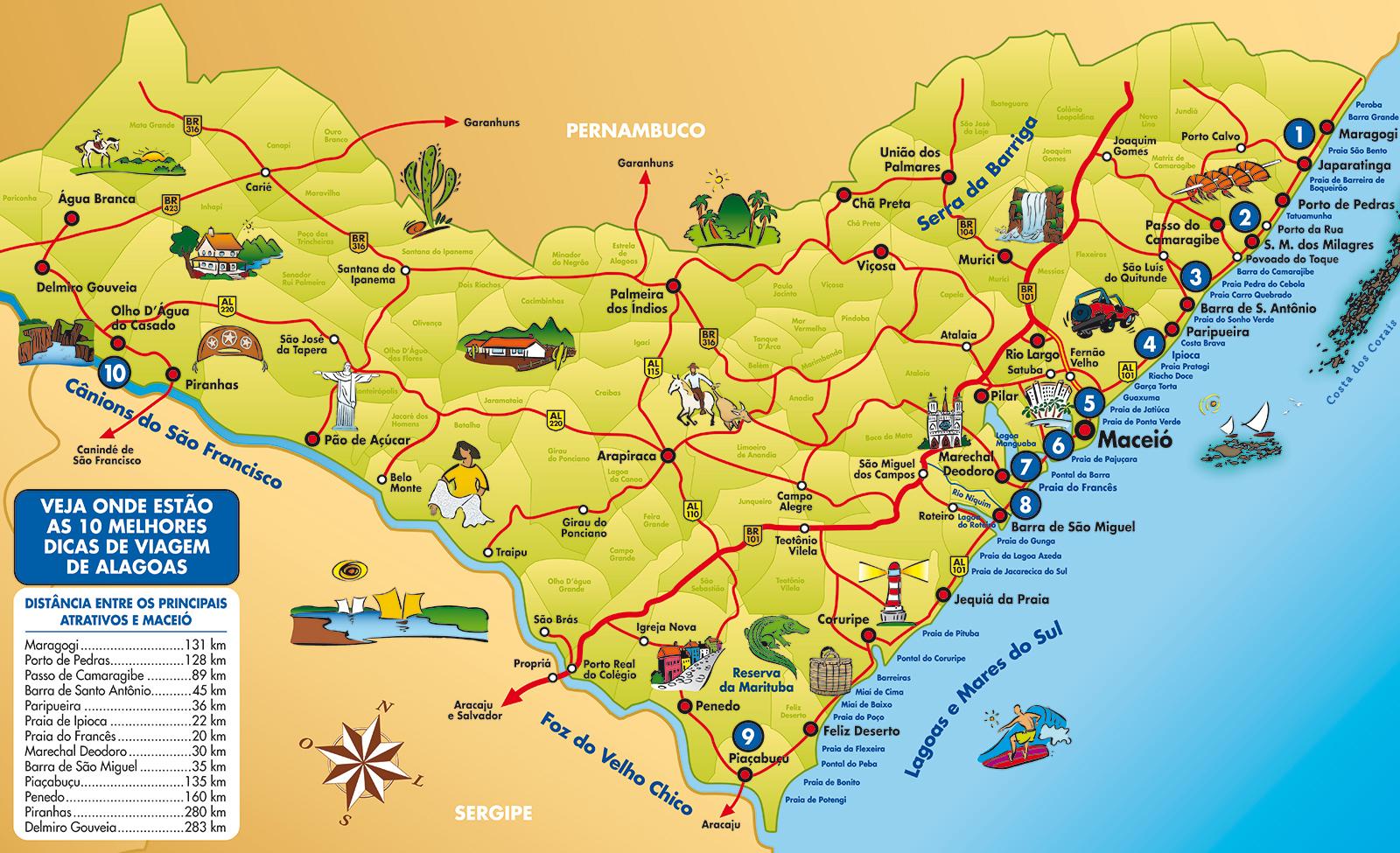 #Alagoas | Mapas Geográficos de Alagoas