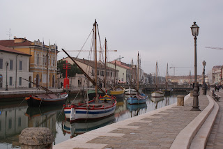 The canal-port at Cesenatico was built to designs by Leonardo da Vinci