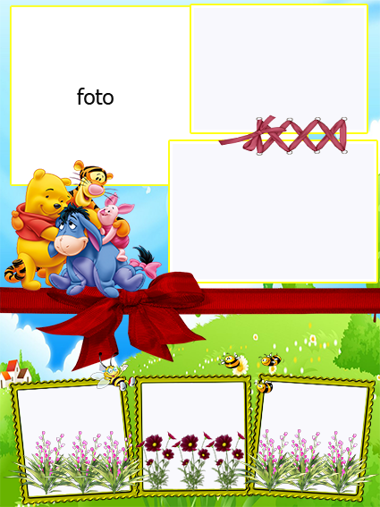 Amoroso Winnie the Pooh: Invitaciones para Descargar Gratis.