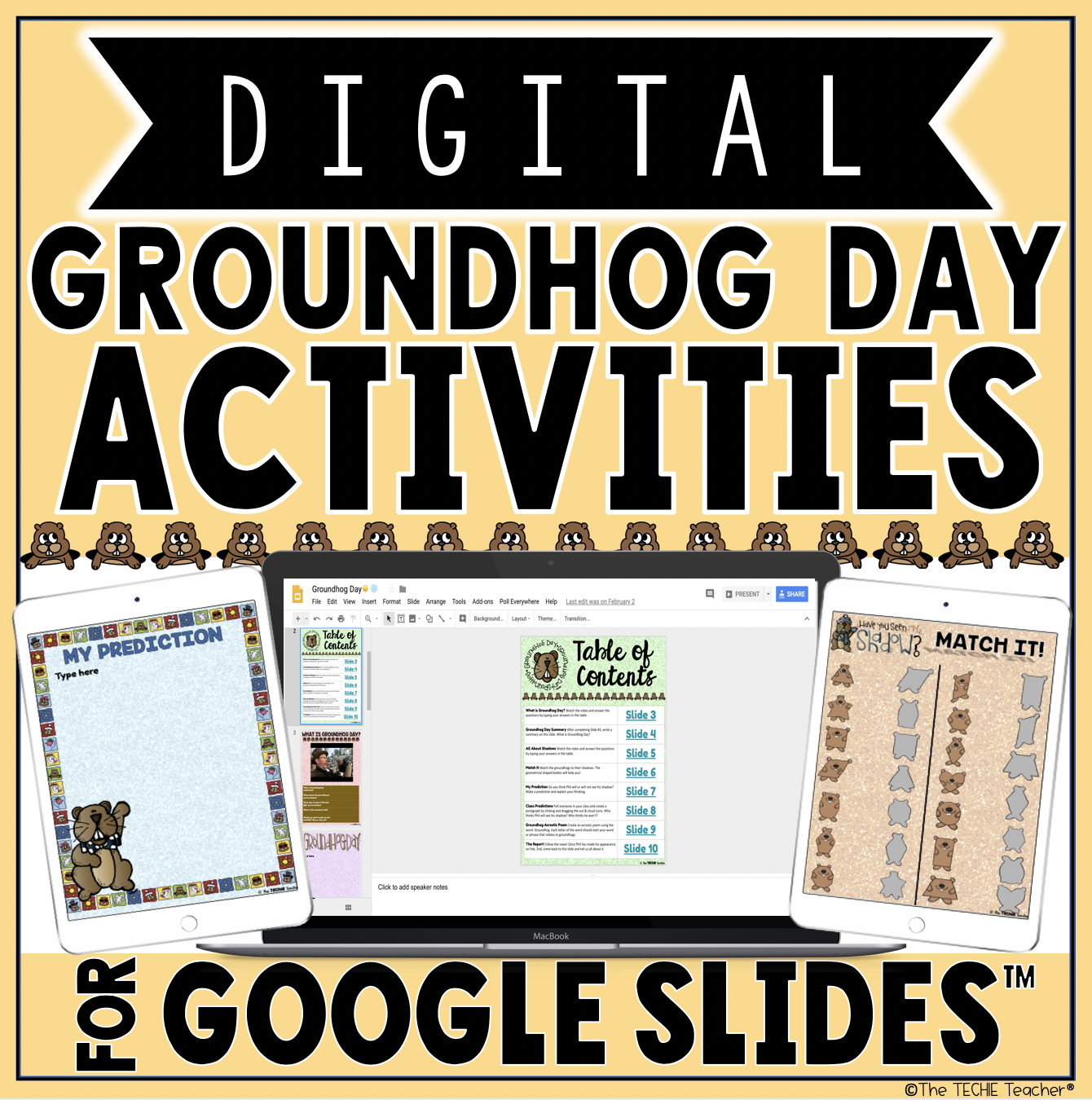 Digital Activities for Groundhog Day   The Techie Teacher® [ 1350 x 1340 Pixel ]