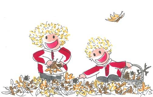 Los niños Tina y Leo descubren que ha llegado el otoño