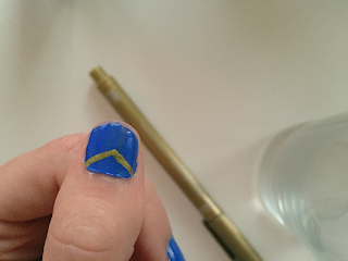 Blue nail gold marker
