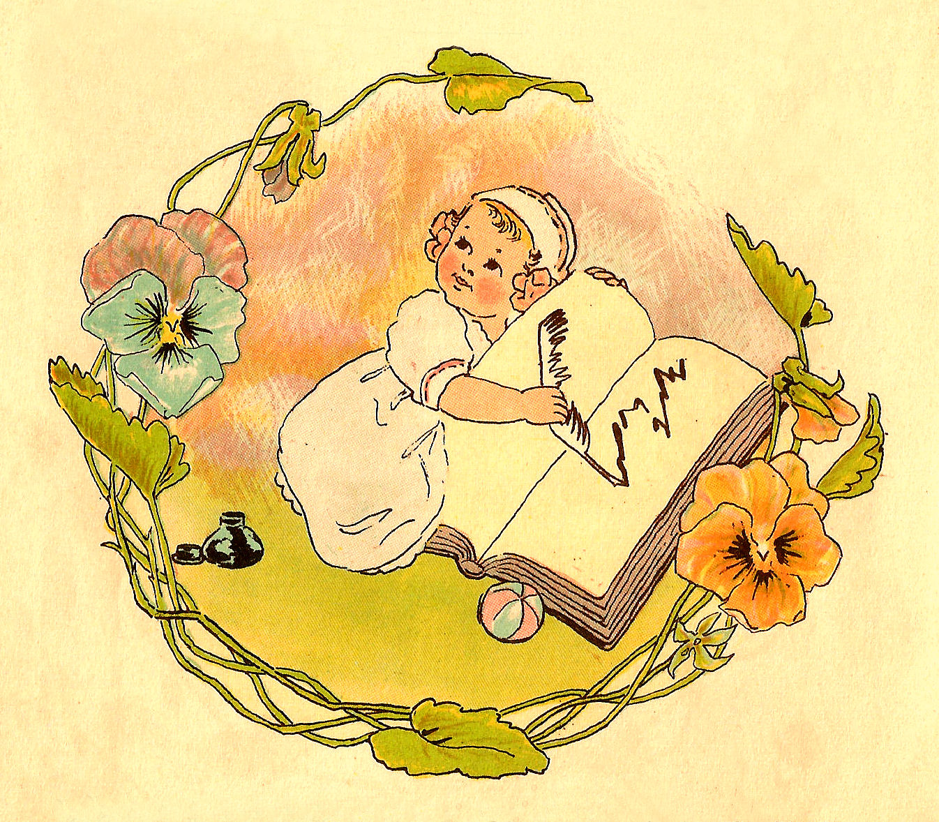 Antique Images: Free Baby Clip Art: Vintage Baby ...
