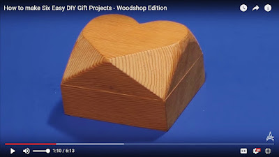 Square wooden box with heart shaped top