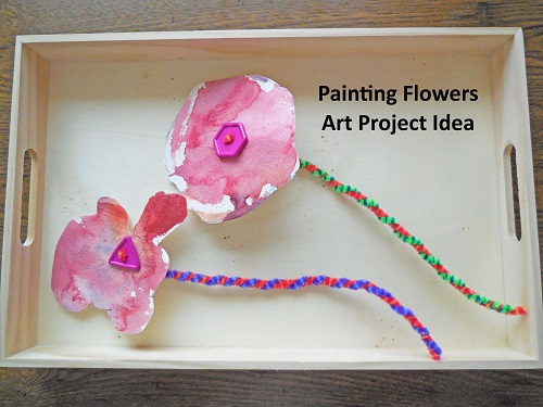 painted flowers art project idea