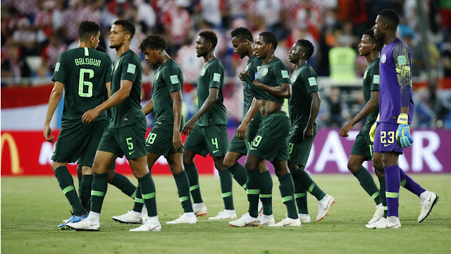 Super Eagles players against Croatia