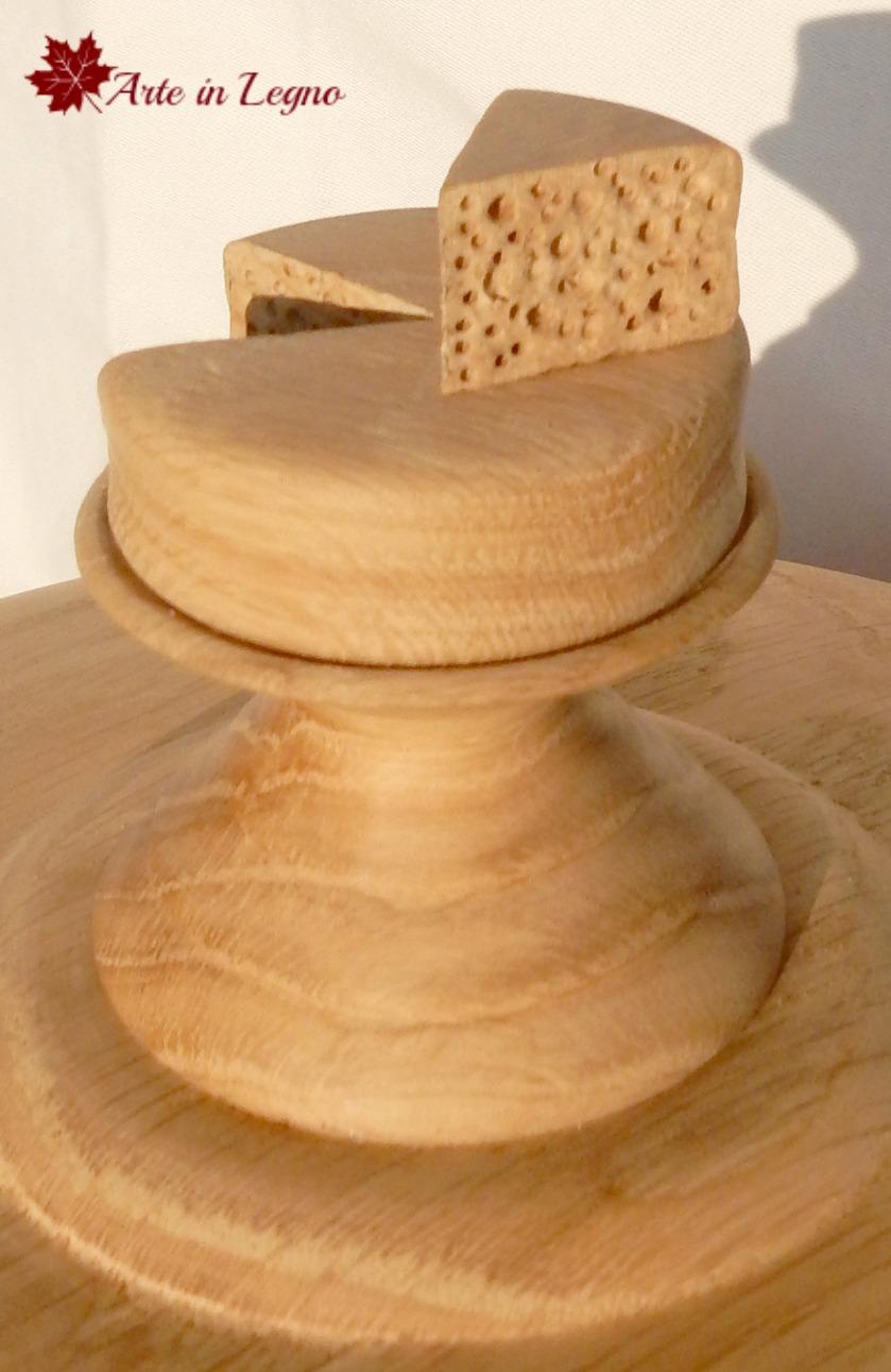 Md creazioni in legno porta formaggio in rovere - Porta formaggio ikea ...