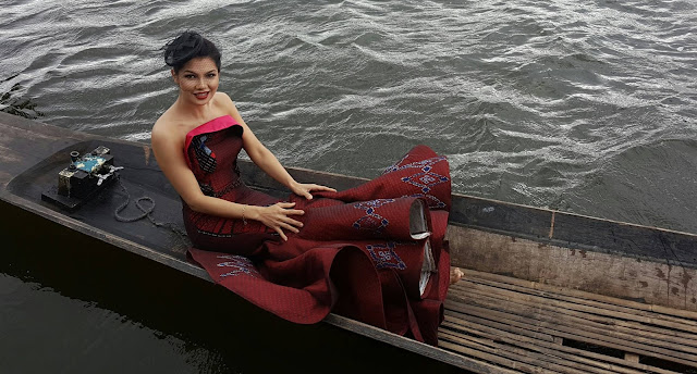 Thandar Hlaing New Photoshoot Behind The Scenes in Inlay,Shan State