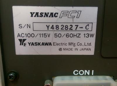 YASKAWA YASNAC FC1 FLOPPY DISC TRANSFER UNIT