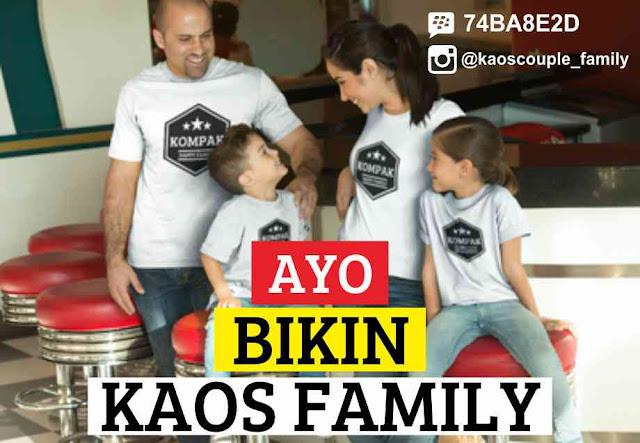 bikin kaos couple keluarga family gambar suka-suka
