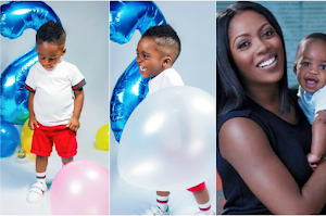 Tiwa Savage shares lovely new photos of her son as he turns two