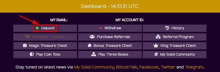 Пополнение счета в MySolidCoin