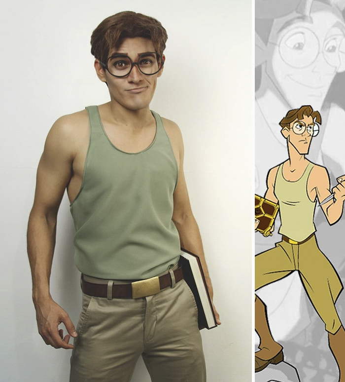 07-Milo-Thatch-from-Atlantis-Jonathan-Stryker-Body-Paint-Cosplay-Transforms-into-Animations-and-Cartoons-www-designstack-co