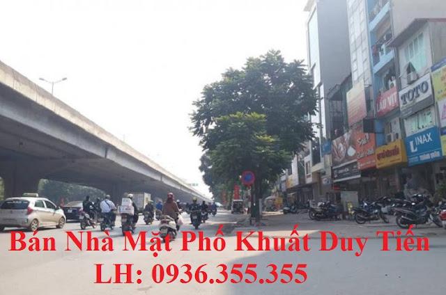 Bán nhà mặt phố Khuất Duy Tiến, Nguyễn Xiển
