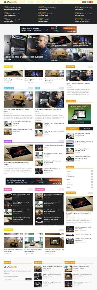 Cleanmag WordPress Theme