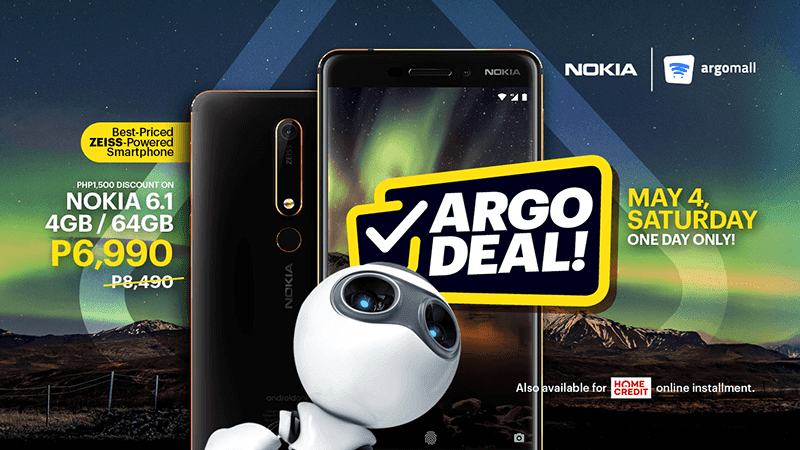 Sale Alert: Nokia 6.1 has 1-day sale on Argomall on May 4!