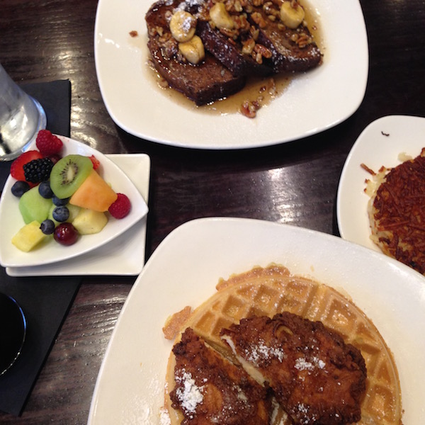 Chicken & waffles and french toast at Terrace Cafe in Charlotte, NC
