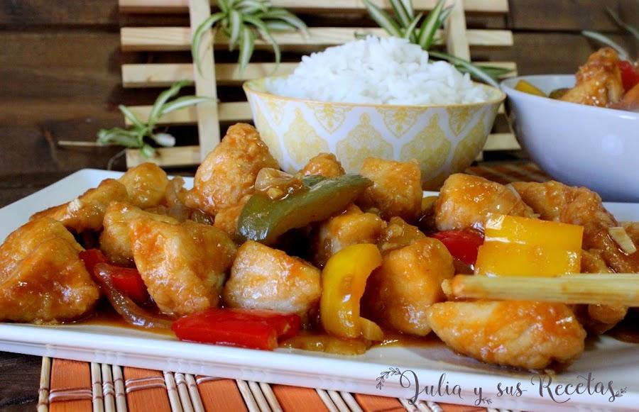 Pollo agridulce chino. Julia y sus recetas