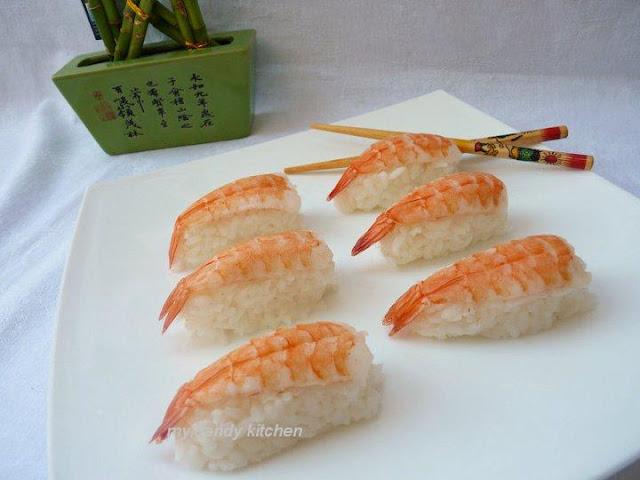 нигири суши, суши със скариди