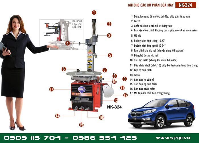 Máy tháo vỏ chuyên dụng cho ô tô, ra vào vỏ ô tô chuyên nghiệp
