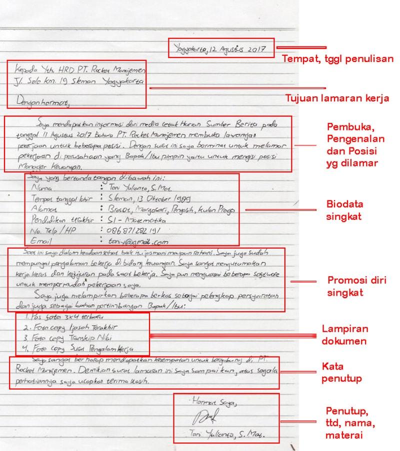 contoh form surat lamaran kerja tulis tangan kosngosan