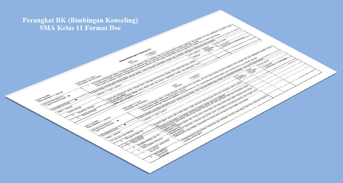 Perangkat BK (Bimbingan Konseling) SMA Kelas 11 Format Doc