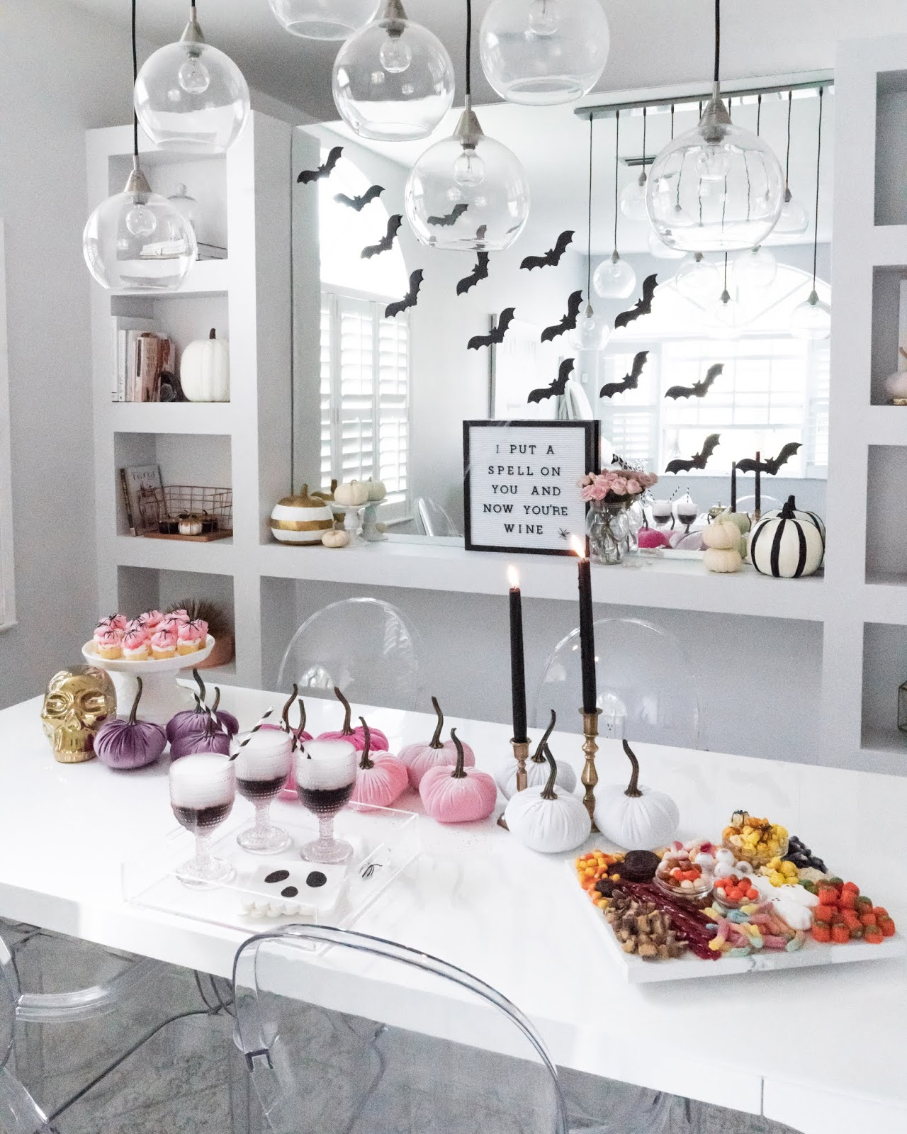 Girly halloween party ideas: drinks, treats, and decor