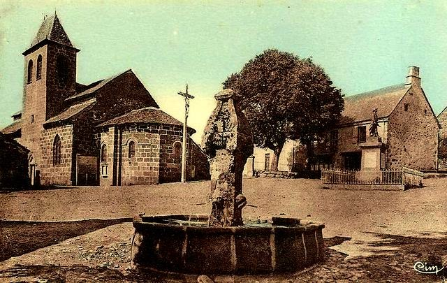 CPA Moussages, Cantal