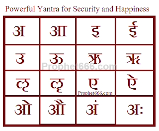Hindu Occult Yantra for Security and Happiness