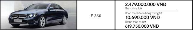 Giá xe Mercedes E250 2018 tại Mercedes Trường Chinh