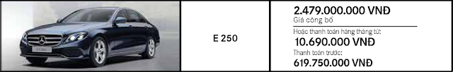 Giá xe Mercedes E250 2019 tại Mercedes Trường Chinh