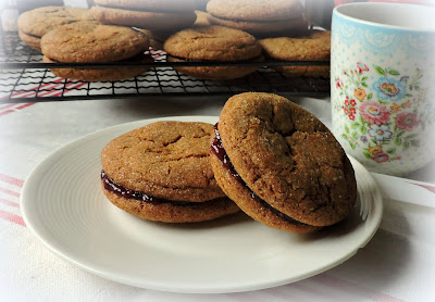 Ginger & Jam Sandwich Cookies