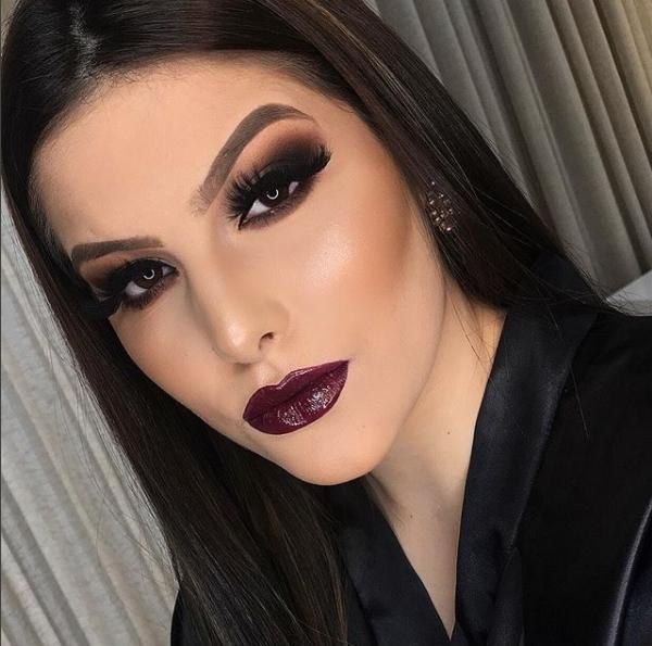 maquiagem batom vinho makeup