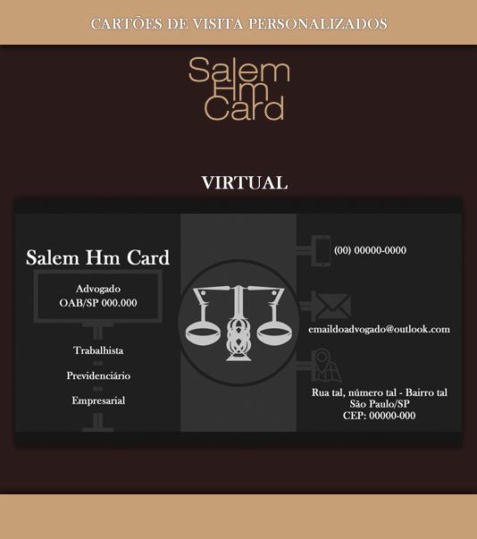 Cartão de Visita - Modelo 2 - Advogado - Virtual