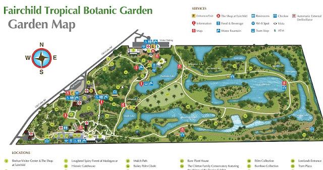Mapa do Fairchild Tropical Botanic Garden em Miami