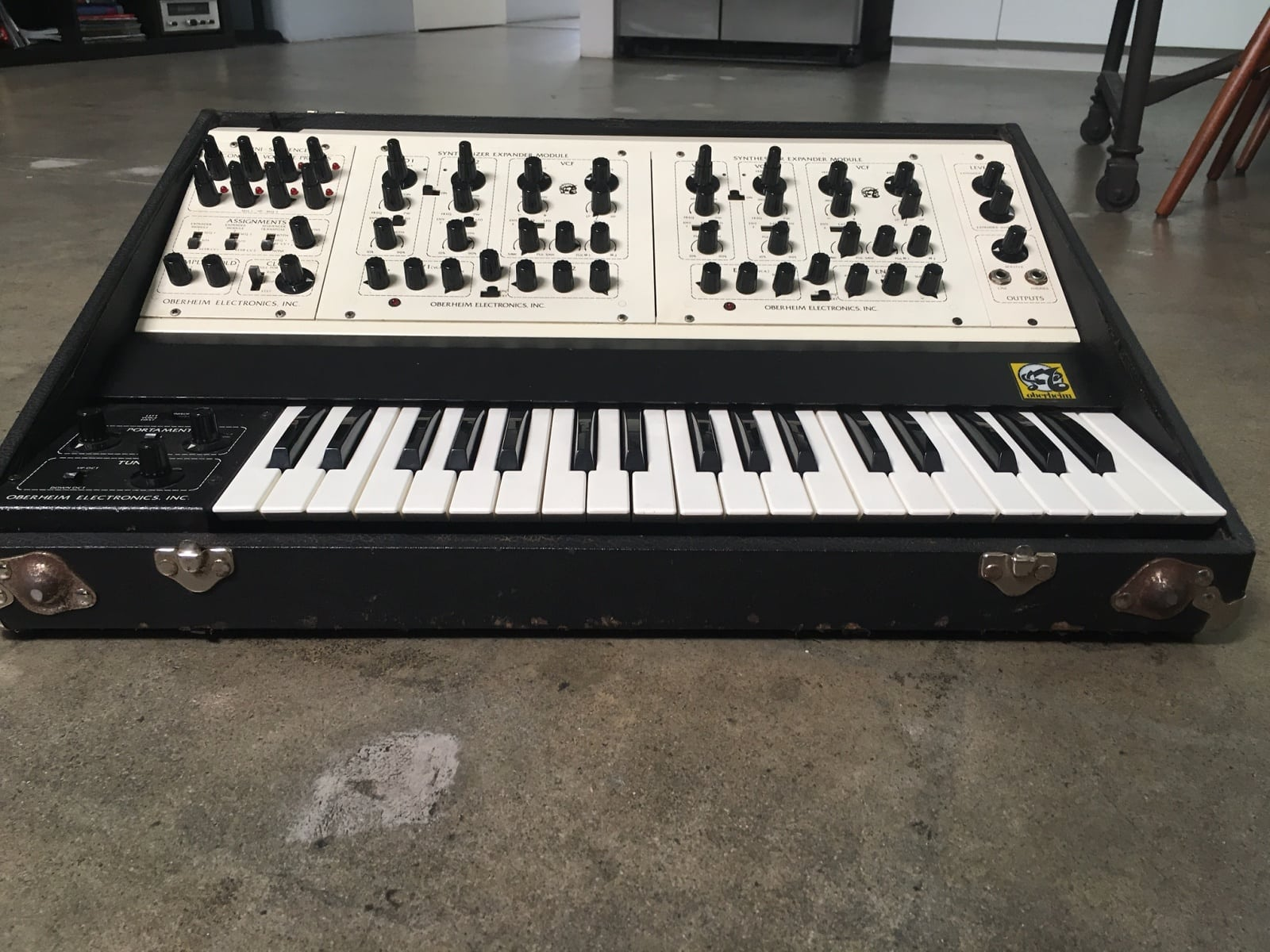 Matrixsynth Oberheim Two Voice 2 Vintage Analog Synth With Mods Gamis Onthel Series Stereo Jack Split The L Sem On And R Cv Filter Gate For 1 Clock In Sequencer