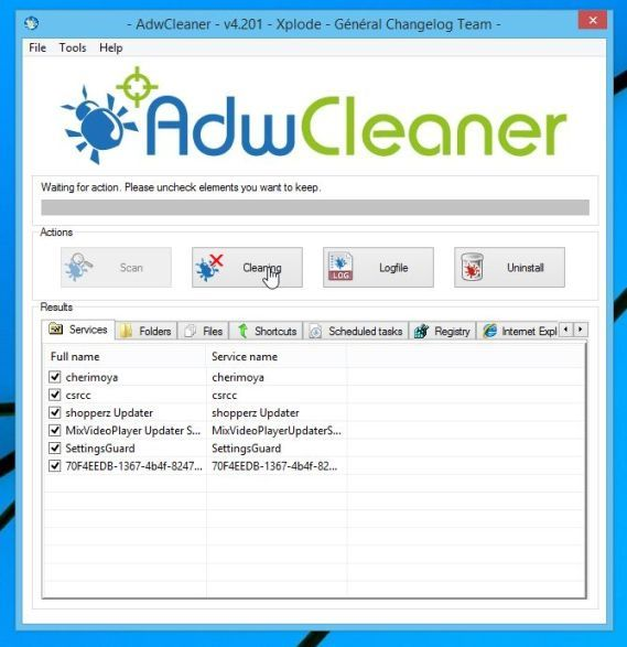 "Remove ""Ads by DNS Unlocker"" adware with AdwCleaner"