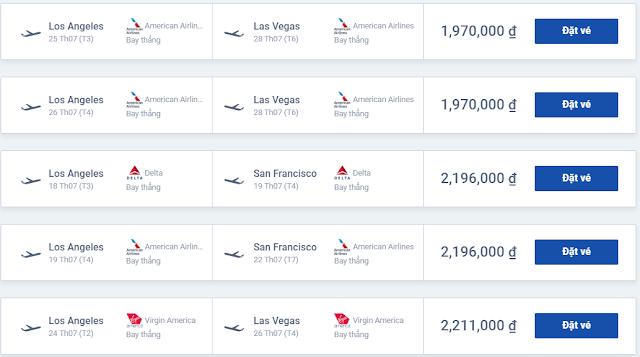 Cần mua vé máy bay United, vé máy bay đi Las Vegas giá rẻ ở đâu?