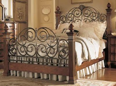 Mi casa mi hogar camas matrimoniales en hierro forjado - Camas antiguas de hierro ...