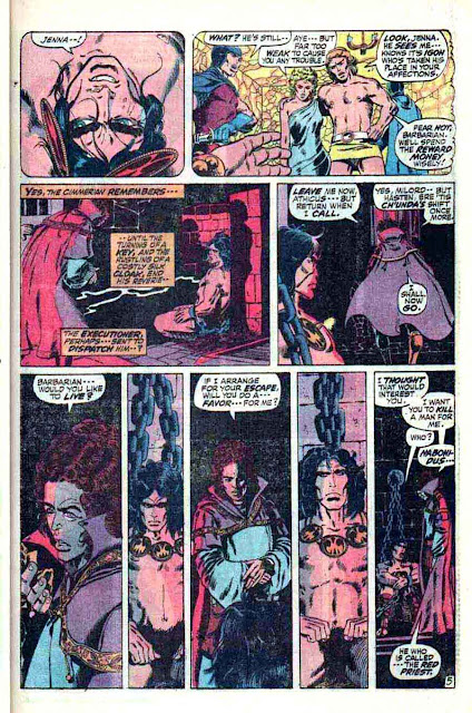 Conan the Barbarian v1 #11 marvel comic book page art by Barry Windsor Smith